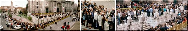 AÑO 1988    Imágenes inéditas de las colas de visitantes     durante la primera exposicion en Valladolid